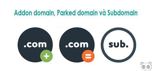 Phân biệt Subdomain, Addon Domain và Parked Domain.